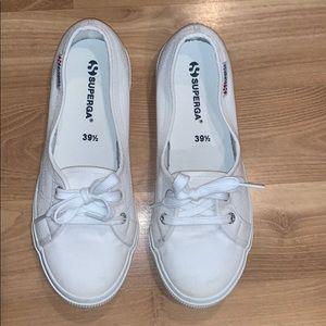 SUPERGA white sneakers size 8.5 GUC